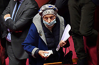 The senator Emma Bonino during the Italian Premier's  information at the Senate about the government crisis..<br /> Rome(Italy), January 19th 2021<br /> Photo Pool Alessandro Di Meo/Insidefoto