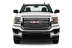Car photography straight front view of a 2018 GMC Sierra-2500HD 2WD-Double-Cab-Long-Box 4 Door Pick-up Front View