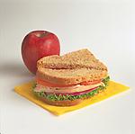 turkey sandwich with apple