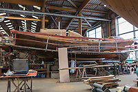 France, Bretagne, (29), Finistère, Brest:  Chantier du Guip restauration et la construction de bateaux en bois : bateaux du patrimoine, //  France, Brittany, Finistere, Brest: Guip Shipyard, building and restoration of wooden historic vessels,