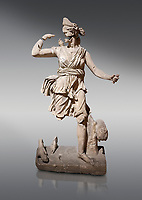 Roman statue of Hunting Artemis .Marble. Perge. 2nd century AD. Inv no .Antalya Archaeology Museum; Turkey.