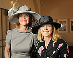 Kim Tutcher and Debbie Letwin at the Hermann Park Conservancy Hat Party Tuesday March 9,2010. (Dave Rossman Photo)