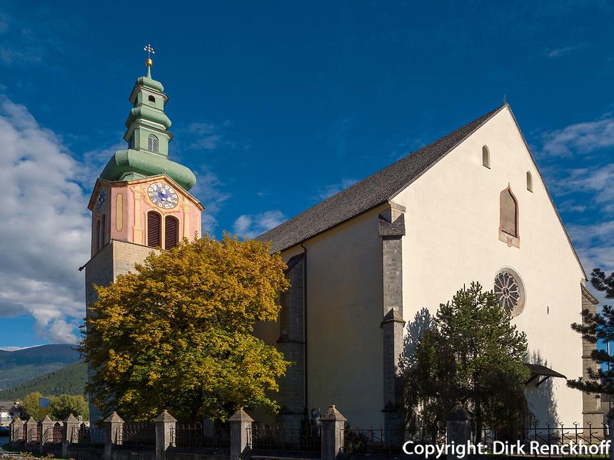 Pfarrkirche in Sterzing, Region Südtirol-Bozen, Italien, Europa<br /> parish church in Sterzing, Region South Tyrol-Bolzano, Italy, Europe