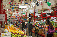 Canada Saint John New Brunswick famous City Market shops interior with food and items for sale