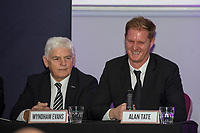 Pictured: Wyndham Evans and Alan Tate of Swansea City during the Swansea City Question Of Sport at the Liberty Stadium in Swansea, Wales, UK. Thursday 05 December 2019