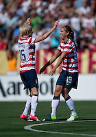 Alex Morgan, Megan Rapinoe.  The USWNT defeated Costa Rica, 8-0, during a friendly match at Sahlen's Stadium in Rochester, NY.