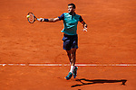 Grigor Dimitrov from Bulgary during his Madrid Open tennis tournament match against Rafa Nadal from Spain Republic in Madrid, Spain. May 08, 2015. (ALTERPHOTOS/Victor Blanco)