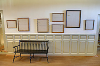 The South Passage hallway artwork on display at James Madison's Montpelier in Orange County, Va. Photo/Andrew Shurtleff