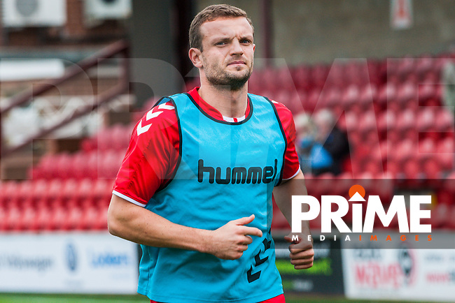 Fleetwood Town's midfielder James Wallace (38) during the Sky Bet League 1 match between Fleetwood Town and Bradford City at Highbury Stadium, Fleetwood, England on 1 September 2018. Photo by Stephen Buckley / PRiME Media Images.