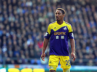 Pictured: Jonathan de Guzman of Swansea. Sunday 16 February 2014<br /> Re: FA Cup, Everton v Swansea City FC at Goodison Park, Liverpool, UK.