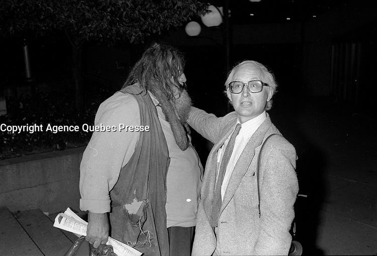 FILE PHOTO -  Le grand antonio au<br /> <br /> party de cloture du Festival des Films du Monde, le 1er septembre 1986.<br /> <br /> PHOTO : Pierre Roussel<br />  - Agence Quebec Presse