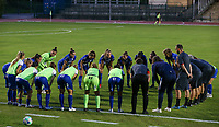 Gent players and staff in a huddle before a female soccer game between FC Femina White Star Woluwe and KAA Gent Ladies on the third match day in the 2021 - 2022 season of Belgian Scooore Womens Super League , Friday 3 th of September 2021  in Woluwe , Belgium . PHOTO SPORTPIX   SEVIL OKTEM