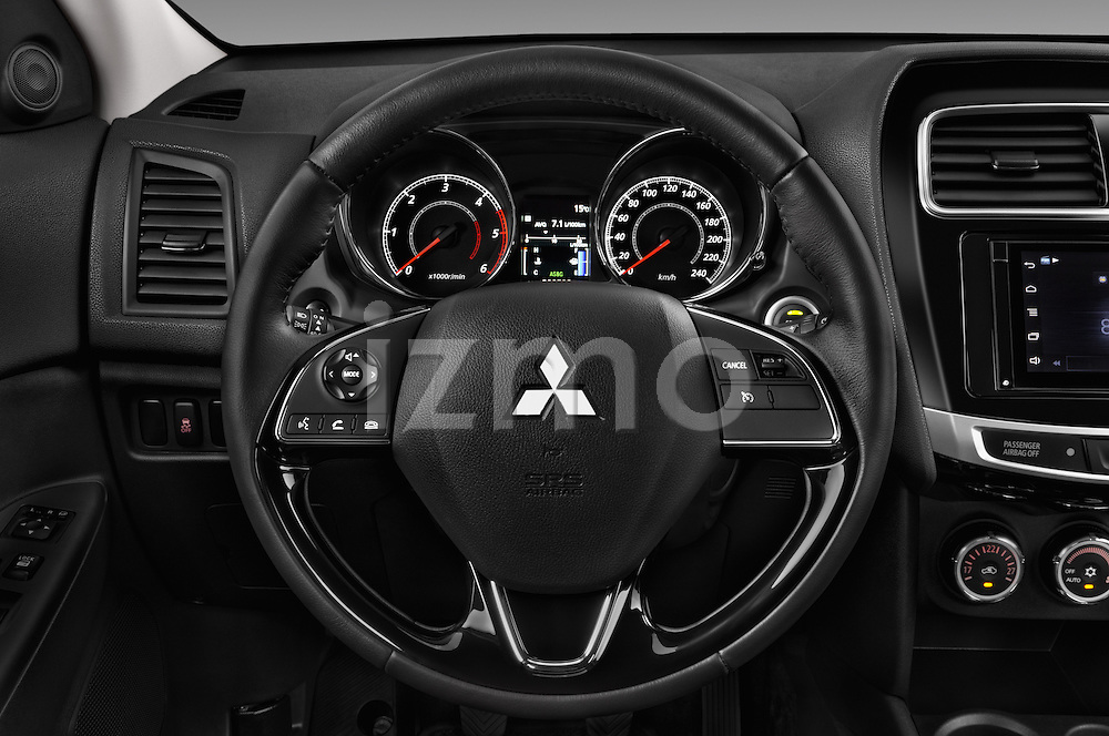 Car pictures of steering wheel view of a 2015 Mitsubishi ASX Diamond Edition 5 Door SUV Steering Wheel