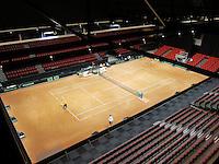 11-sept.-2013,Netherlands, Groningen,  Martini Plaza, Tennis, DavisCup Netherlands-Austria, Practice,   <br /> Photo: Henk Koster
