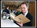 16/03/2009  Copyright Pic: James Stewart.File Name : sct_jspa02_parliament.DAILY MAIL REPORTER JONATHAN BROCKLEBANK TRIES OUT THE BARGAIN FOOD AT THE SCOTTISH PARLIAMENT'S MEMBERS RESTAURANT WASHED DOWN BY A NOT SO INEXPENSIVE WINE......James Stewart Photography 19 Carronlea Drive, Falkirk. FK2 8DN      Vat Reg No. 607 6932 25.Telephone      : +44 (0)1324 570291 .Mobile              : +44 (0)7721 416997.E-mail  :  jim@jspa.co.uk.If you require further information then contact Jim Stewart on any of the numbers above.........