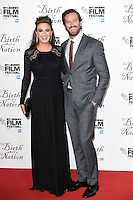 """Armie Hammer and wife, Elizabeth Chambers<br /> at the London Film Festival 2016 premiere of """"The Birth of a Nation"""" at the Odeon Leicester Square, London.<br /> <br /> <br /> ©Ash Knotek  D3173  11/10/2016"""