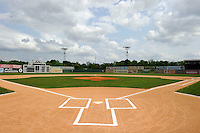 Field view of Rickwood Field, the oldest surviving professional baseball park in the United States, first opening on August 18, 1910, as home for the Birmingham Barons.  Image taken on April 16, 2013 in Birmingham, Alabama.  (Mike Janes/Four Seam Images)