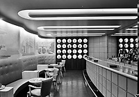 A Bar Moderne: Seagram's Distillers Corp., Chrysler Building, New York City. General view of barroom. 1939.<br /> <br /> Photo by Gottscho-Schleisner.