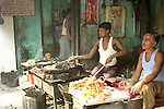 Sweet vendors in the Paharganj district of New Delhi, India.