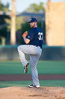 AZL Brewers starting pitcher Adrian Houser (37) delivers a pitch to the plate against the AZL Dodgers on July 25, 2017 at Camelback Ranch in Glendale, Arizona. AZL Dodgers defeated the AZL Brewers 8-3. (Zachary Lucy/Four Seam Images)