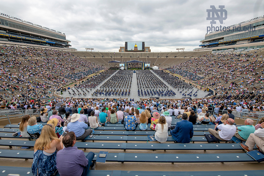 May 23, 2021;  176th Commencement Ceremony in Notre Dame Stadium. (Photo by Barbara Johnston/University of Notre Dame)