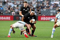 14th November 2020, Sydney, Australia;  Alex Hodgman in possession. Tri Nations rugby union test match,  New Zealand All Blacks versus Argentina Pumas. Bankwest Stadium, Sydney, Australia.