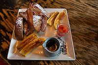 Las Vegas, Nevada.  French Toast, Guy Fieri's Vegas Kitchen and Bar, The Linq Hotel.
