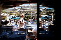 Club 55 restaurant, Pampelonne Beach, Ramatuelle, near Saint Tropez, France, 16 October 2013