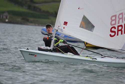 Tom Coulter racing in the Laser Radial at EABC Photo: Sue Kitson