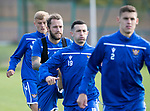 St Johnstone Training….13.09.19     McDiarmid Park, Perth<br />Stevie May and Jason Holt pictured during training this morning ahead of tomorrows game at Aberdeen with Sam Denham and Wallace Duffy<br />Picture by Graeme Hart.<br />Copyright Perthshire Picture Agency<br />Tel: 01738 623350  Mobile: 07990 594431