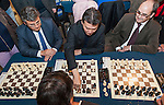 Kirsan Ilyumzhinov, President of FIDE-World Chess Federation, opens the chess room at cultural and sports complex Petxina (Valencia-Spain).<br /> February 27, 2013