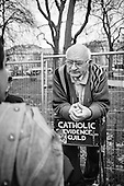Catholic Evidence Guild.  Speakers Corner, Hyde Park, London.