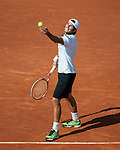 Simone Bolelli (ITA) loses in first round play at Roland Garros in Paris, France on May 29, 2012