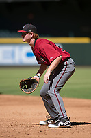 Arizona Diamondbacks first baseman Pavin Smith (35) during an Instructional League game against the Kansas City Royals at Chase Field on October 14, 2017 in Phoenix, Arizona. (Zachary Lucy/Four Seam Images)