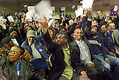 Homerton Hospital UNISON Branch members at the London Citizens Mayoral Accountability Assembly in Central Hall, Westminster.