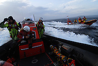 Lesbos / Greece 06/04/2016<br /> Sea-Watch rescue team engaged in the monitoring and rescue of migrants in the sea area between Turkey and the island of Lesbos.<br /> Photo Livio Senigalliesi