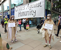Protesters in Oxford Street<br /> Extinction Rebellion demonstrators hold a Redress the Injustice day of protest around Central London, opposing the fashion industry's many human, animal and environmental injustices. September 9th 2020<br /> CAP/ROS<br /> ©ROS/Capital Pictures