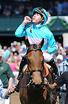 Lady Eli and jockey Irad Ortiz win the Appalachian Presented by Japan Racing Association at Keeneland for owner Sheep Pond Partners and trainer Chad Brown.