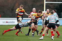 Morgan Ward of Richmond Rugby in action during the English National League match between Richmond and Blackheath  at Richmond Athletic Ground, Richmond, United Kingdom on 4 January 2020. Photo by Carlton Myrie.