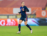 BREDA, NETHERLANDS - NOVEMBER 27: Alex Morgan #13 of the USWNT looks to the ball during a game between Netherlands and USWNT at Rat Verlegh Stadion on November 27, 2020 in Breda, Netherlands.