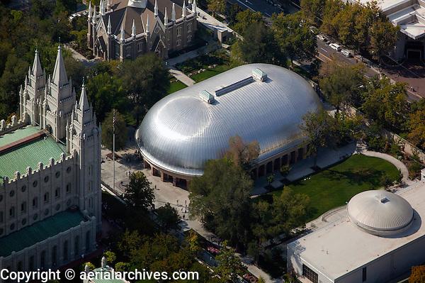 aerial photograph Mormon Tabernacle, Salt Lake City, Utah