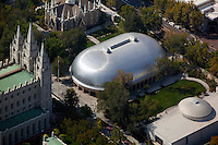aerial photograph Mormon Tabernacle, Salt Lake City, Utah