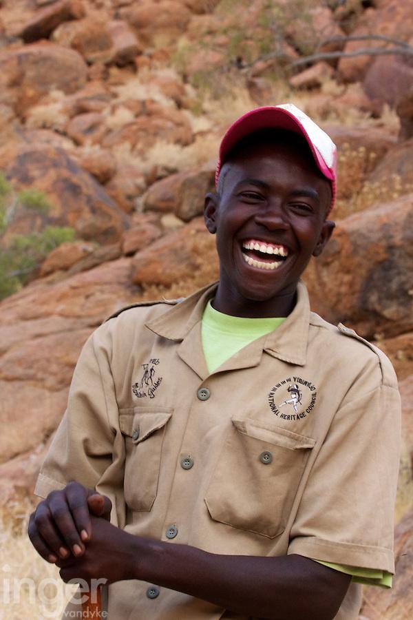 Tour guide in Brandberg, Namibia