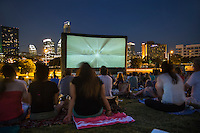Austin Outdoor Cinema and Music Concert Series on the Lawn - Stock Photo Image Gallery