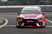 2020 British Touring Car Championship Media day. #44 Andy Neate. Motorbase Performance. Ford Focus RS.