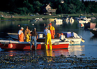 Lobsterman preparing to go out, Roberts Cove, Orleans, Cape Cod<br />