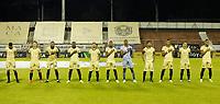 RIONEGRO- COLOMBIA, 31-03-2021:Jugadores de  Águilas Doradas posan para una foto previo al partido por la fecha 16 entre Águilas Doradas y Once Caldas como parte de la Liga BetPlay DIMAYOR 2021 jugado en el estadio Alberto Grisales de Rionegro/ Players of Aguilas Doradas pose to a photo prior Match for the date 16 between Aguilas Doradas and Once Caldas  as part of the BetPlay DIMAYOR League I 2021 played at Alberto Grisales  stadium in Rionegro. Photo: VizzorImage / Donaldo Zuluaga / Contribuidor