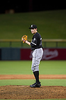 AZL White Sox relief pitcher Salvador Villarreal (77) prepares to deliver a pitch to the plate against the AZL Cubs on August 13, 2017 at Sloan Park in Mesa, Arizona. AZL White Sox defeated the AZL Cubs 7-4. (Zachary Lucy/Four Seam Images)