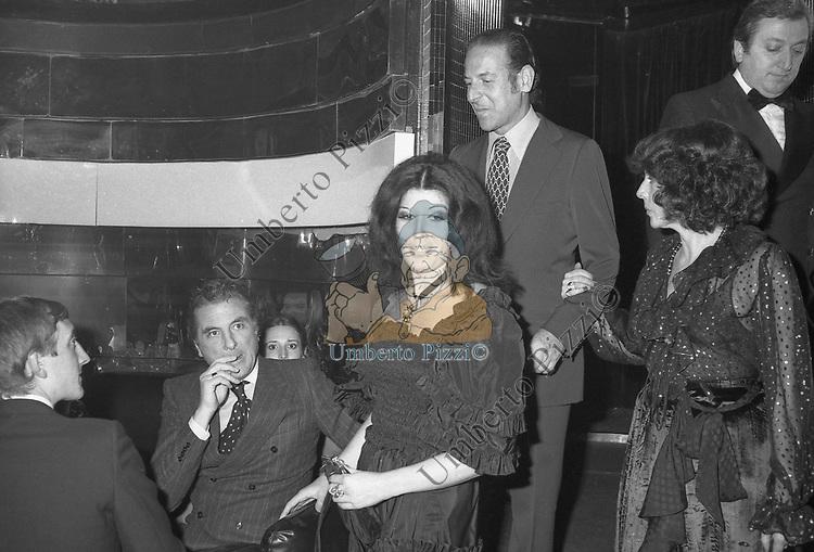RAIMONDO ORSINI CON PATRIZIA DE BLANCK NUMBER ONE  ROMA 1979