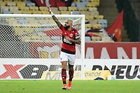Rio de Janeiro (RJ), 08/05/2021 - Flamengo-Volta Redonda - Gabriel jogador do Flamengo comemora seu gol,durante partida contra o Volta Redonda,válida pelas semifinais do Campeonato Carioca 2021,realizada no Estádio Jornalista Mário Filho (Maracanã), na zona norte do Rio de Janeiro, neste sábado (08).